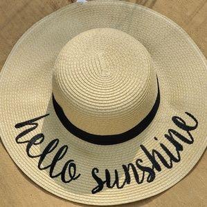 Accessories - Hello Sunshine sun hat.